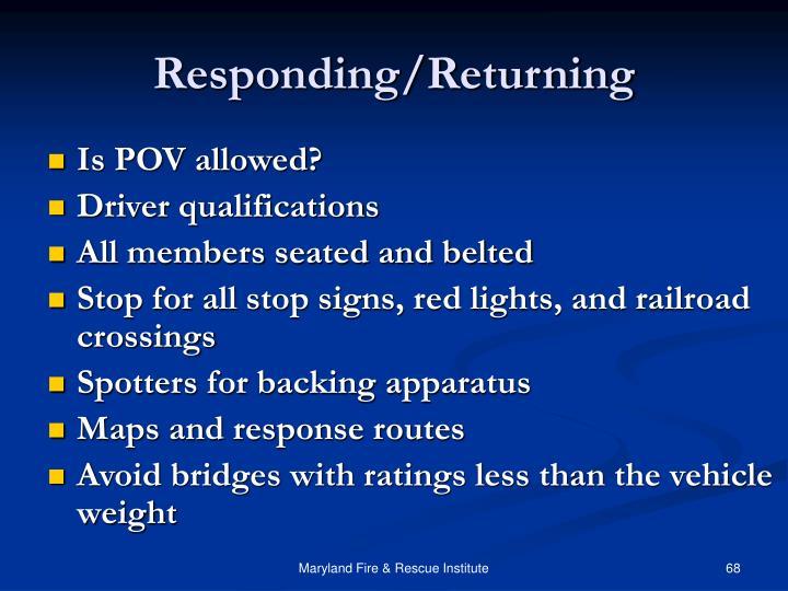 Responding/Returning