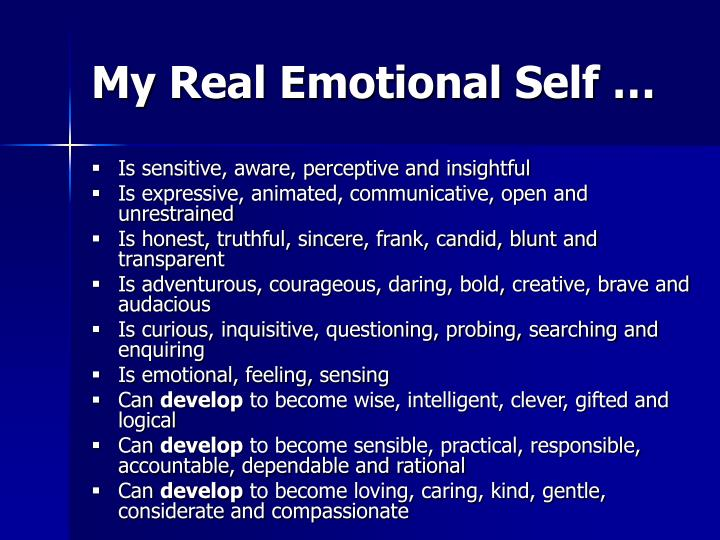 My Real Emotional Self …