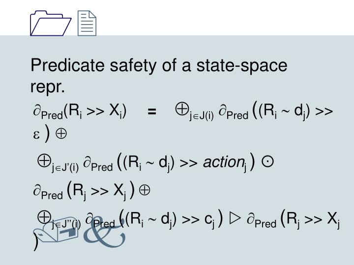 Predicate safety of a state-space repr.