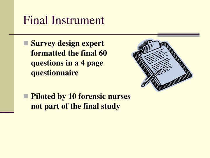 Final Instrument