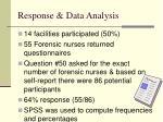 response data analysis