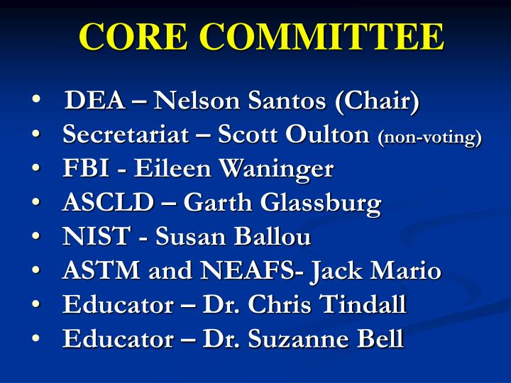 CORE COMMITTEE