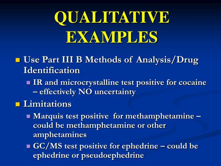 QUALITATIVE EXAMPLES