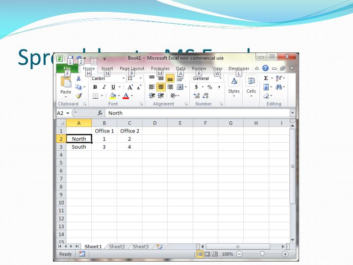 Spreadsheets: MS Excel