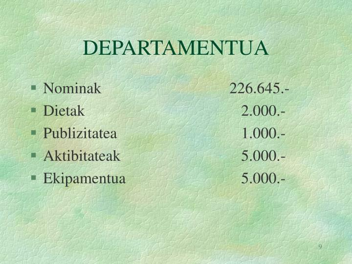 DEPARTAMENTUA