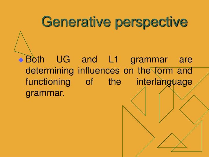 Generative perspective