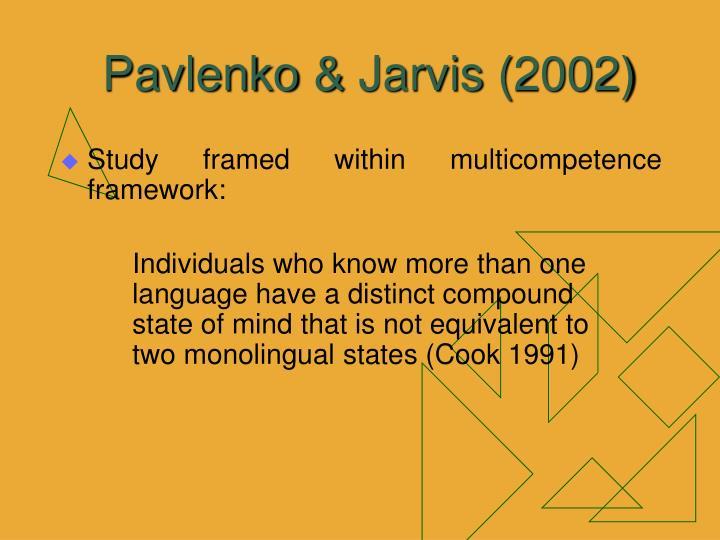 Pavlenko & Jarvis (2002)