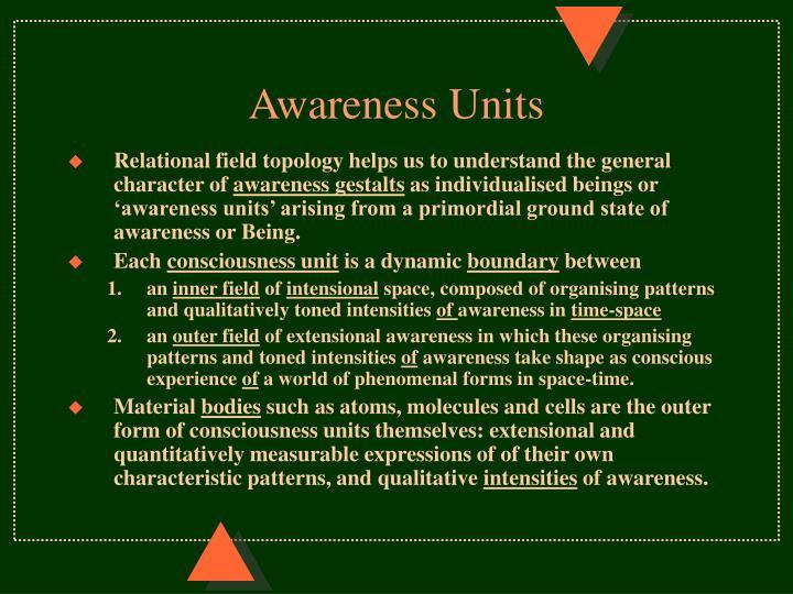 Awareness Units