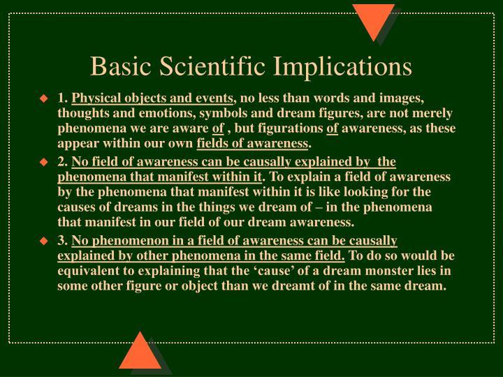 Basic Scientific Implications