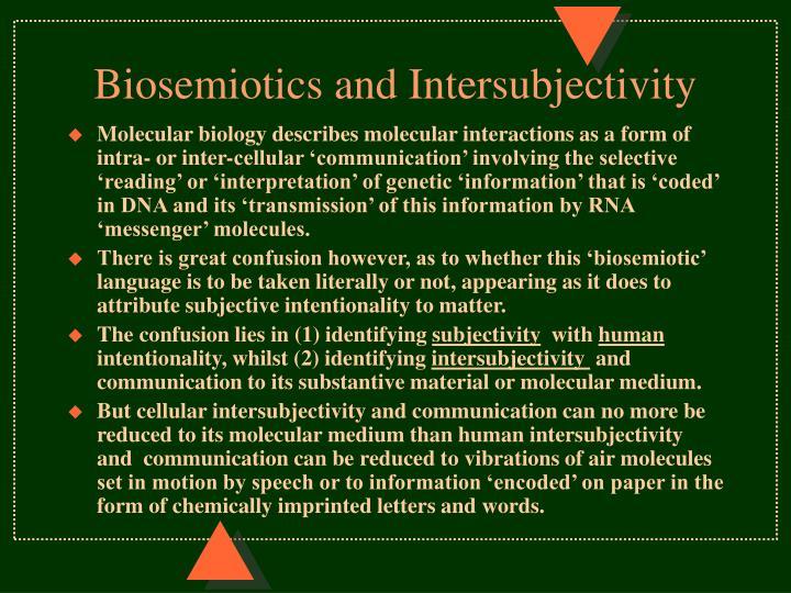 Biosemiotics and Intersubjectivity