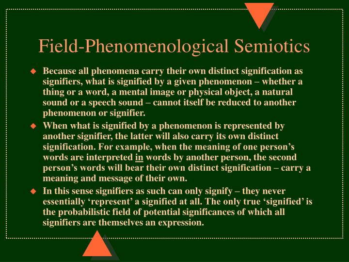 Field-Phenomenological Semiotics