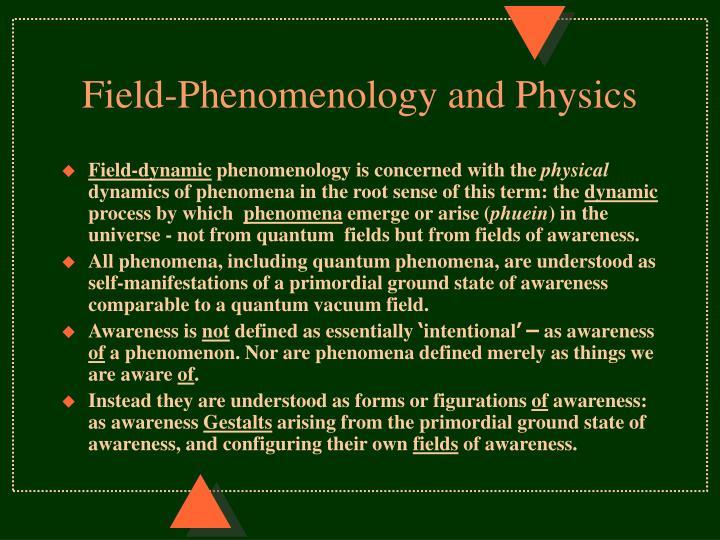 Field-Phenomenology and Physics