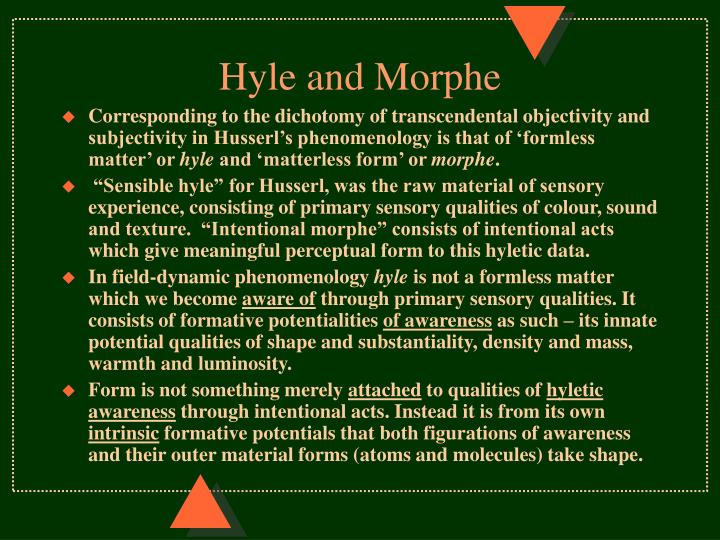 Hyle and Morphe