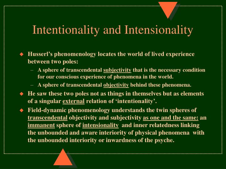 Intentionality and Intensionality