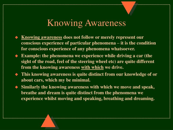Knowing Awareness