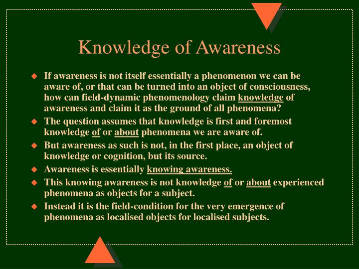 Knowledge of Awareness