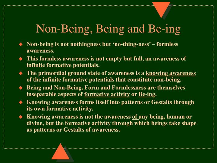 Non-Being, Being and Be-ing