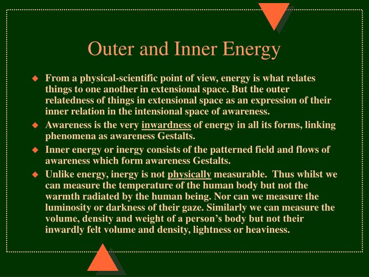Outer and Inner Energy