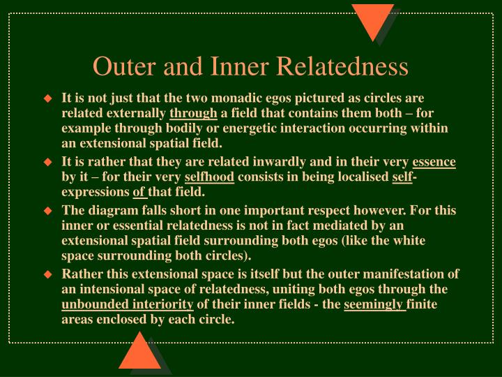 Outer and Inner Relatedness