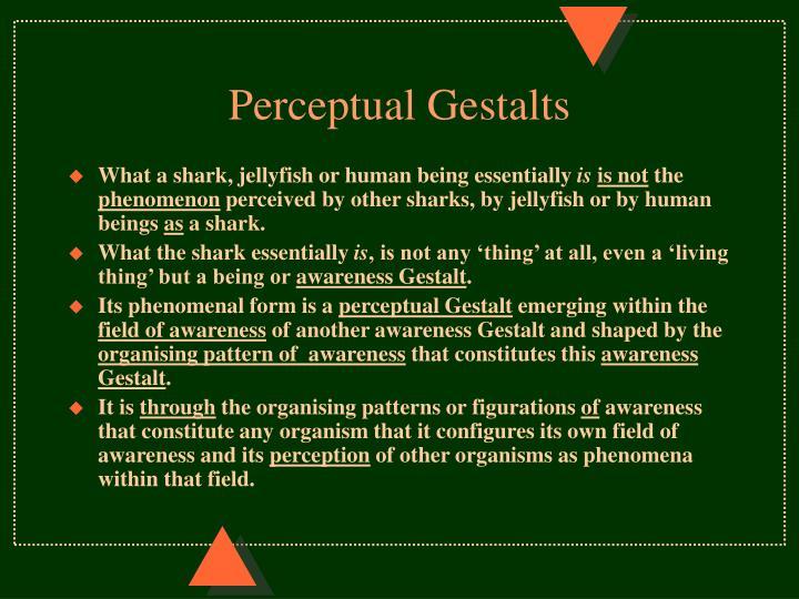 Perceptual Gestalts