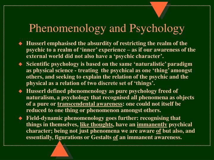 Phenomenology and Psychology