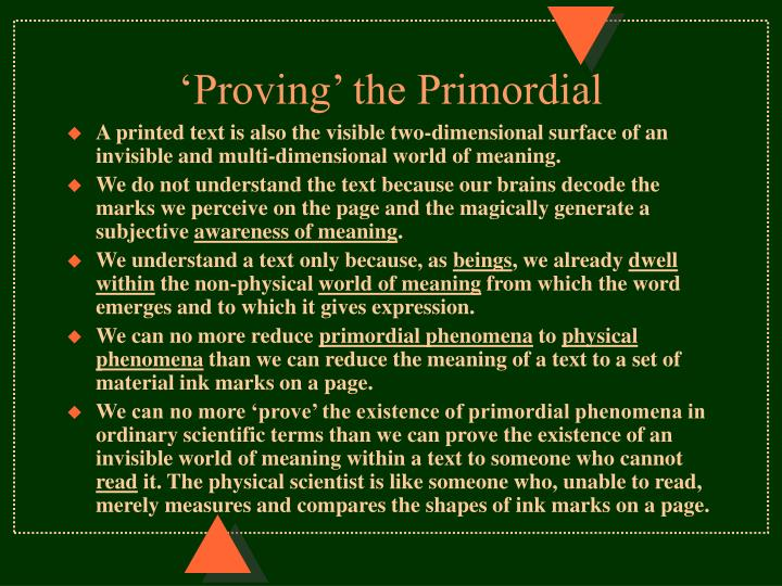 'Proving' the Primordial