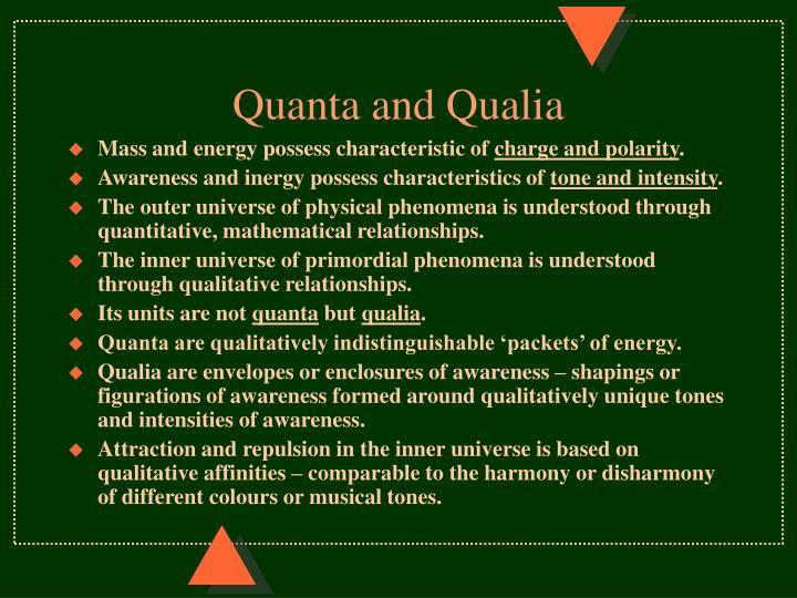 Quanta and Qualia