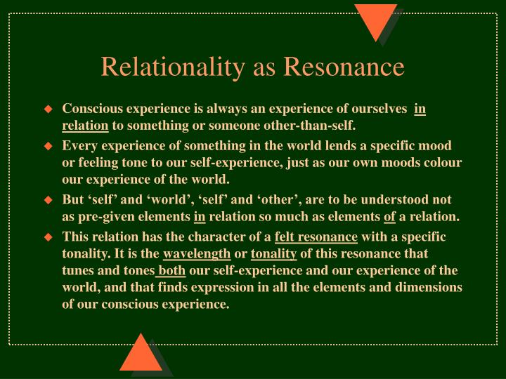 Relationality as Resonance