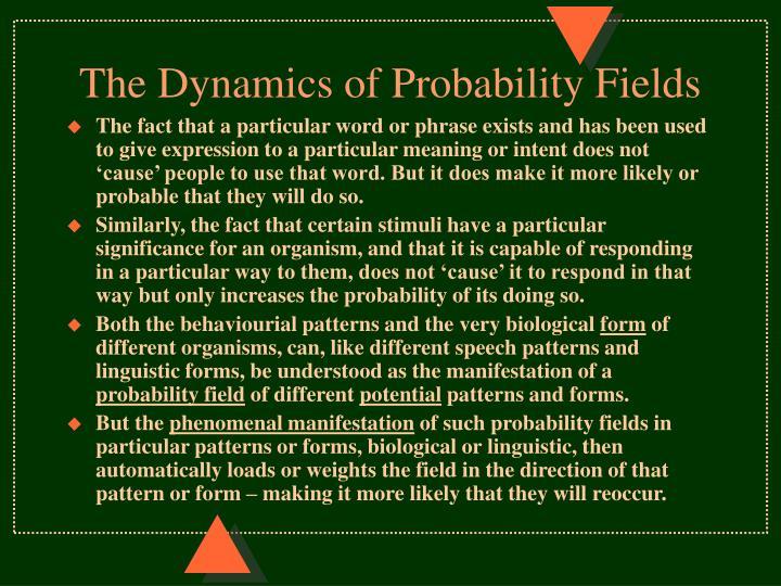 The Dynamics of Probability Fields