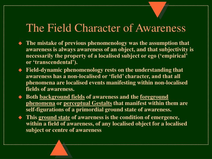 The Field Character of Awareness