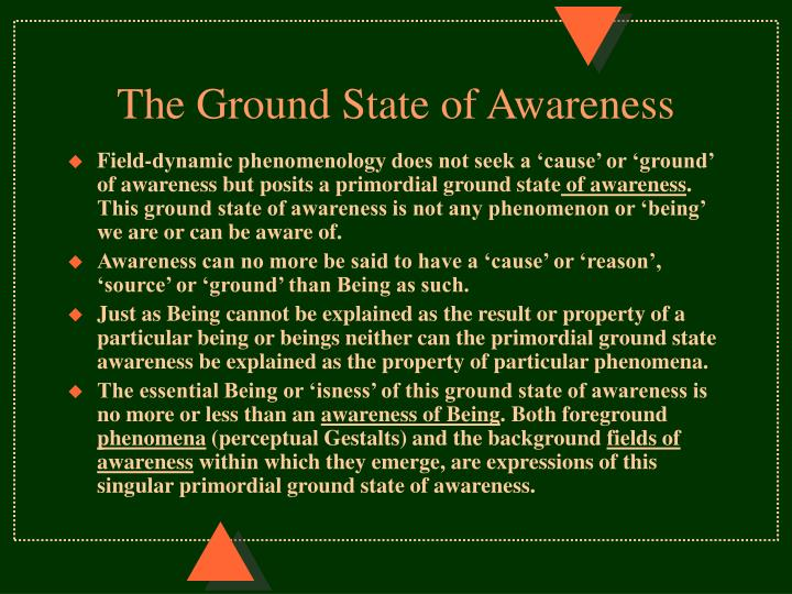 The Ground State of Awareness