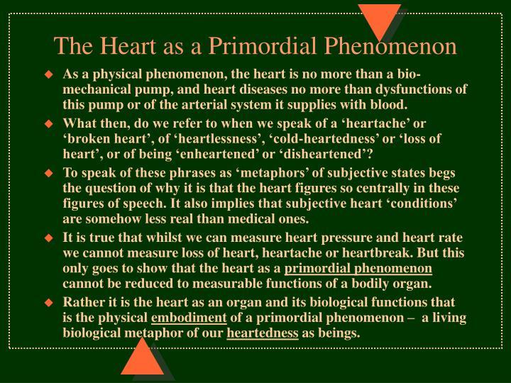The Heart as a Primordial Phenomenon