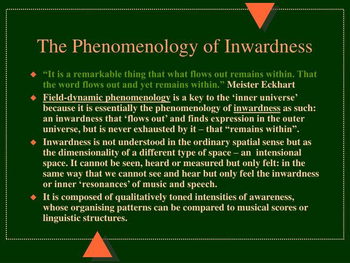 The Phenomenology of Inwardness