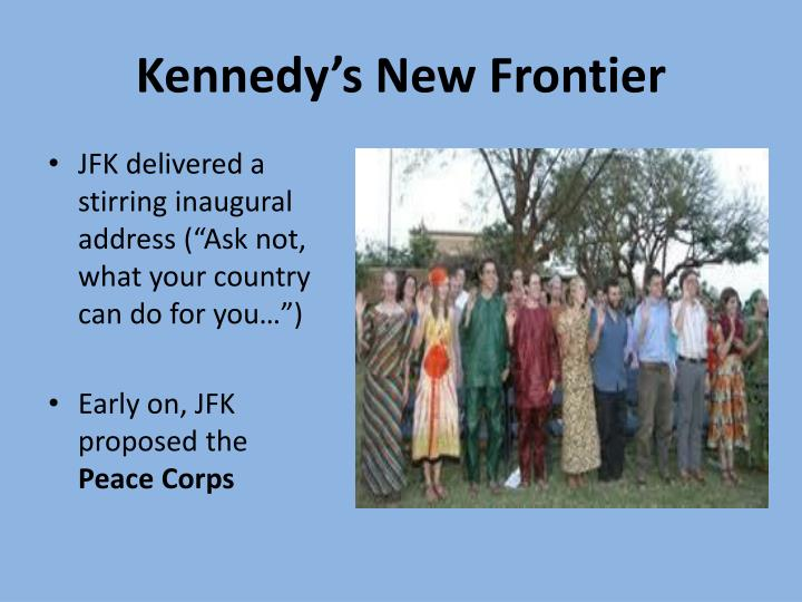 Kennedy s new frontier
