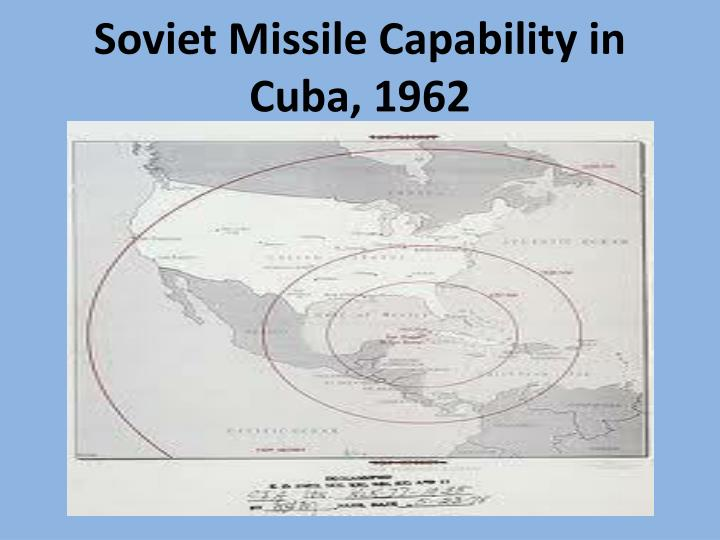 Soviet Missile Capability in Cuba, 1962