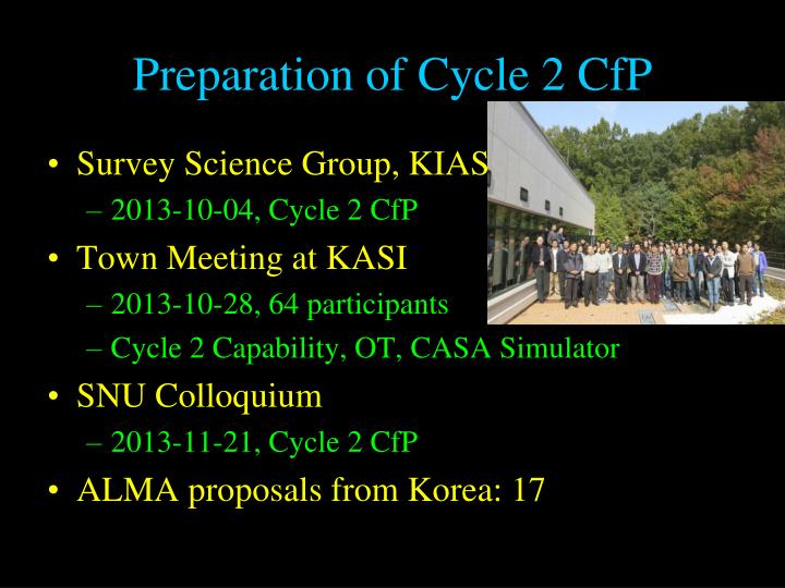 Preparation of cycle 2 cfp