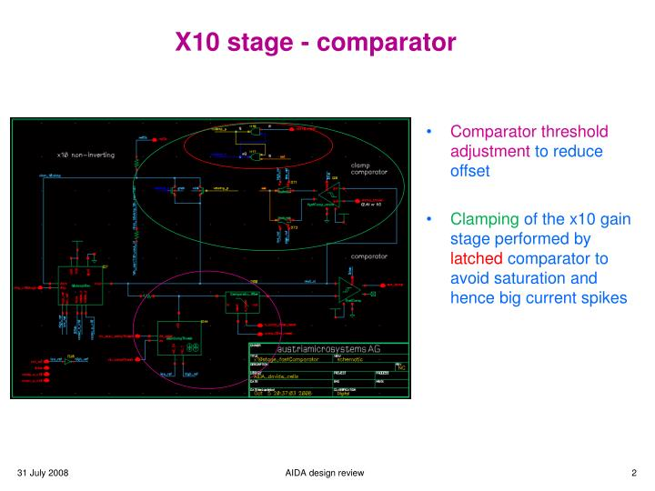 X10 stage - comparator
