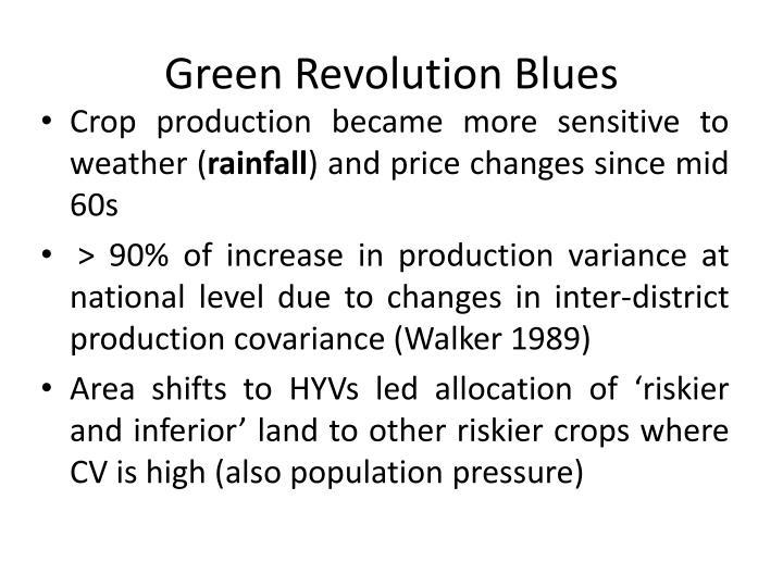 Green Revolution Blues