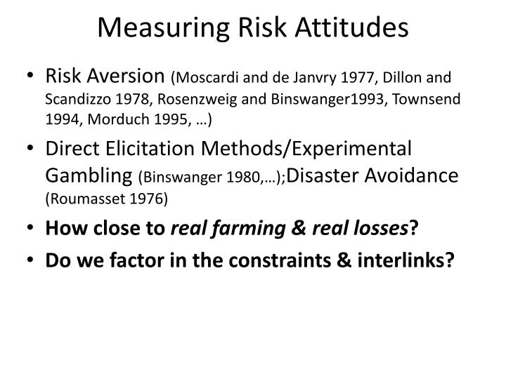 Measuring Risk Attitudes