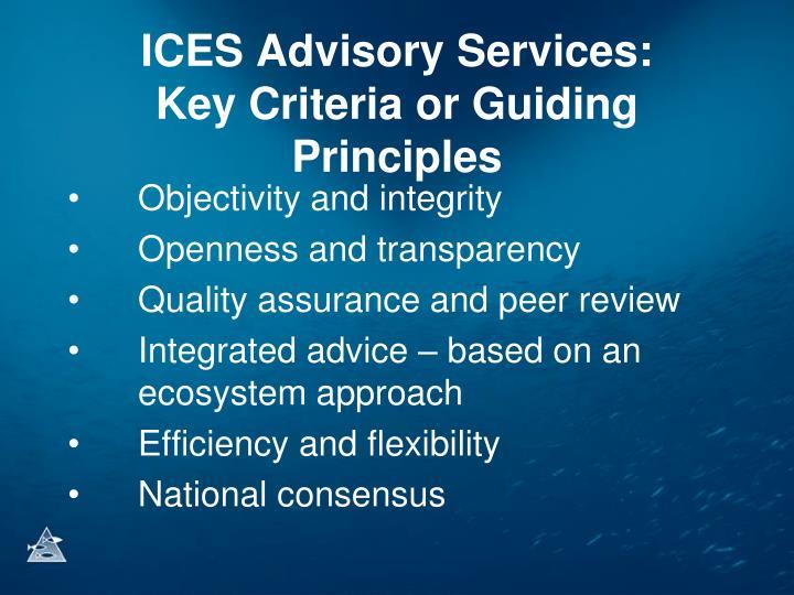 ICES Advisory Services: