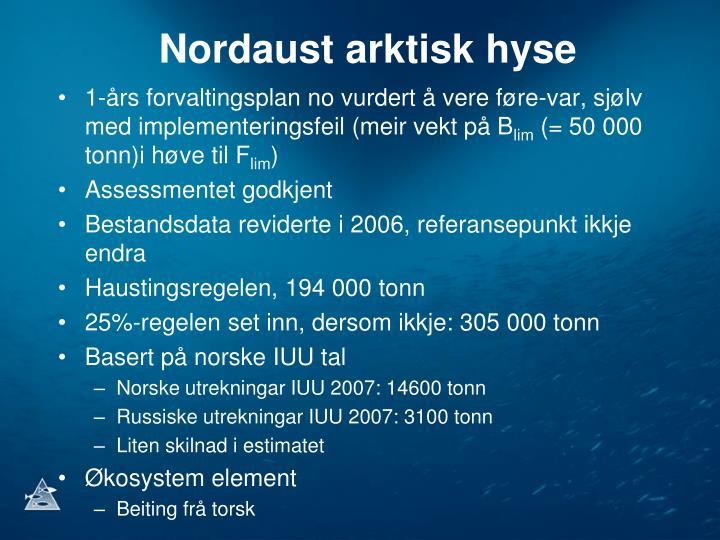 Nordaust arktisk hyse