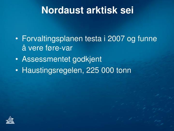 Nordaust arktisk sei