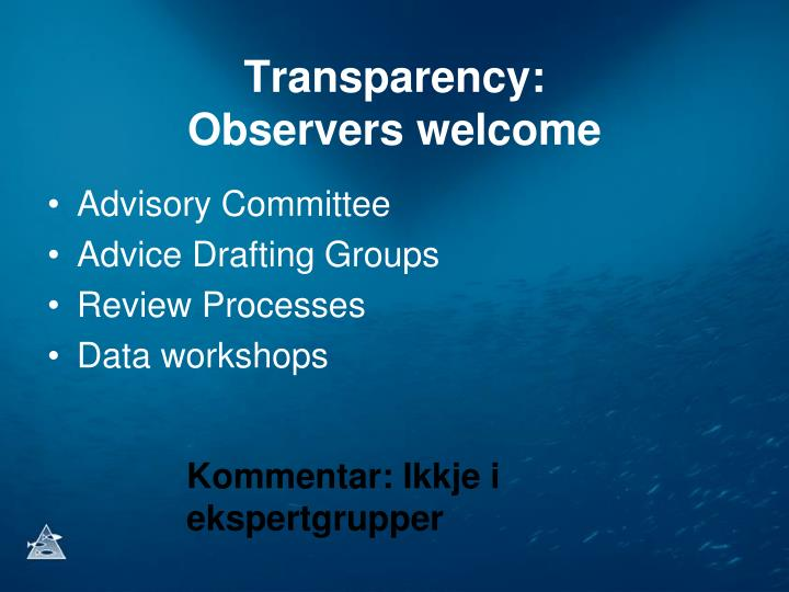 Transparency: