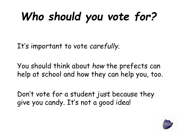 Who should you vote for?