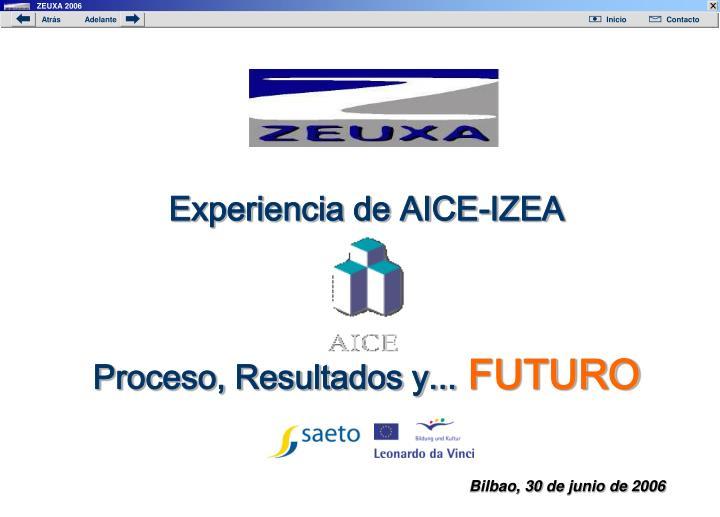 Experiencia de AICE-IZEA