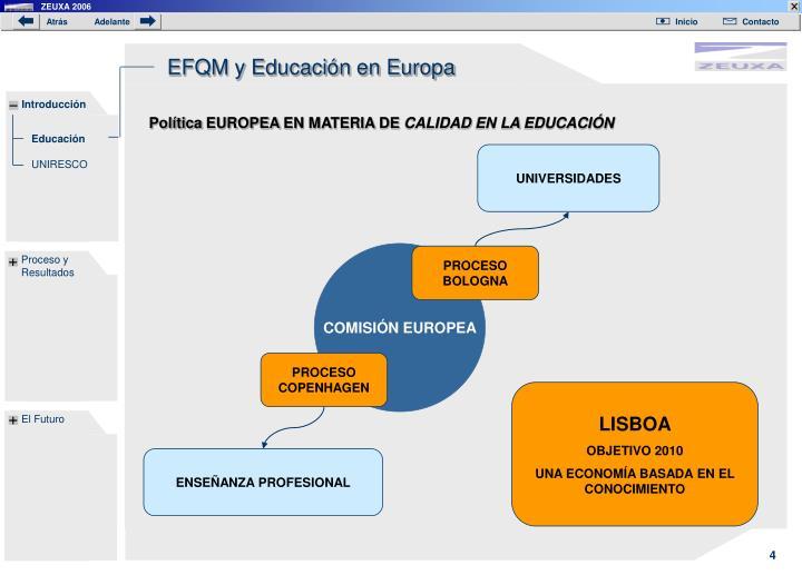 EFQM y Educación en Europa