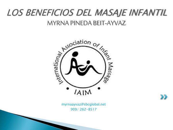 LOS BENEFICIOS DEL MASAJE INFANTIL