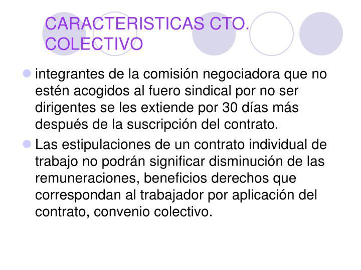 CARACTERISTICAS CTO. COLECTIVO