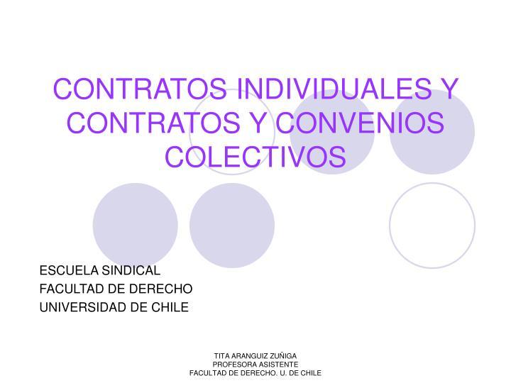 CONTRATOS INDIVIDUALES Y CONTRATOS Y CONVENIOS COLECTIVOS