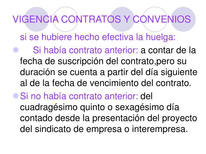 VIGENCIA CONTRATOS Y CONVENIOS